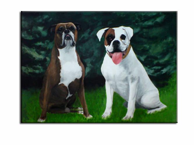 Malerei, Vater sohn, Malerei acrylmalerei, Tiere