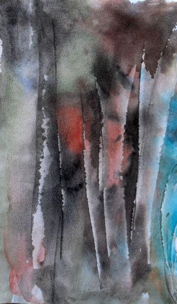 Wald, Natur, Baum, Malerei