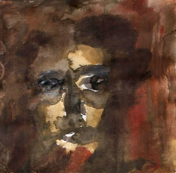 Alter, Braun, Portrait, Malerei