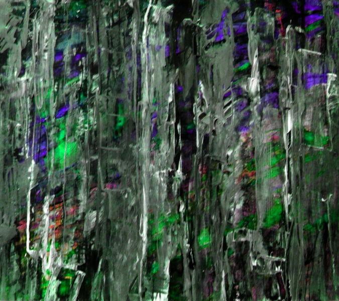 Schwarz, Grün, Lila, Malerei, Jahr
