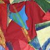 Collage, Zeitung, Farben, Mischtechnik