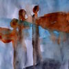 Engel, Blau, Braun, Malerei