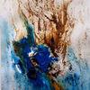 Blau, Braun, Abstrakt, Malerei