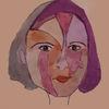 Mädchen, Bunt, Gesicht, Malerei