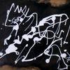Schwarz, Weiß, Braun, Malerei