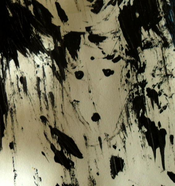 Abstrakt, Schwarz, Weiß, Malerei, Staunen