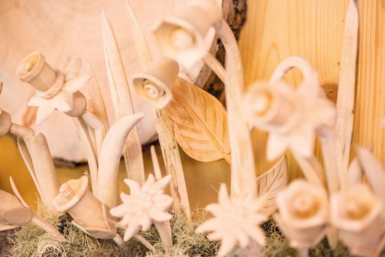 Linde, Edelweiß, Holzschnitzer, Blumen, Südtirol, Ahorn