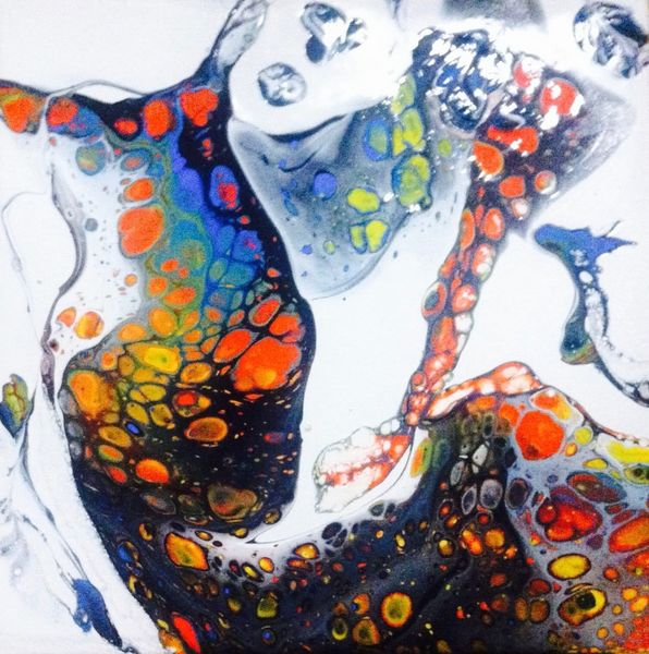 Acrylmalerei, Abstrakt, Fluid painting, Malerei
