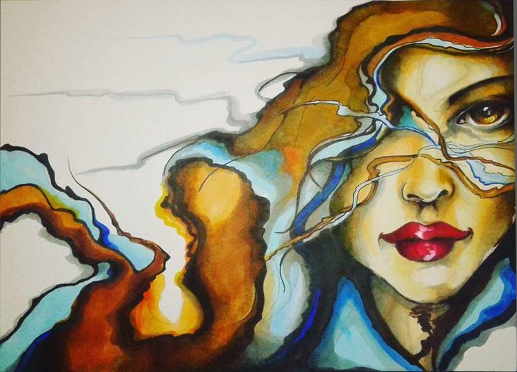 Illustration, Modern art, Frau, Schönheit, Illustrationen