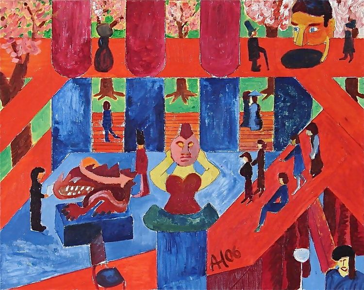 Acrylmalerei, Malerei, Ölmalerei, Malerei acrylmalerei, Garn, Mischtechnik