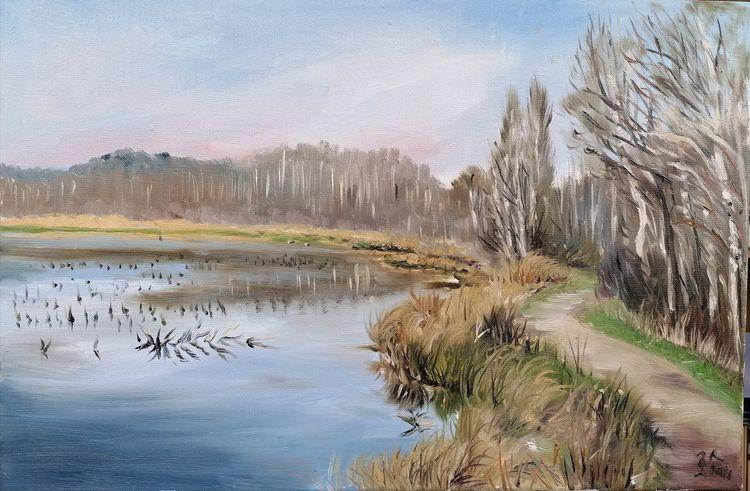 Quickborn, Himmelmoor, Moorsee, Malerei