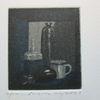 Miniatur, Stillleben, Druckgrafik, Flasche