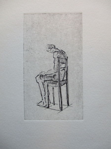 Miniatur, Stillleben, Druckgrafik, Stuhl,