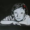 Ausdruck, Gesicht, Weiß, Acrylmalerei