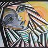 Bunt, Malerei, Acrylmalerei, Augen