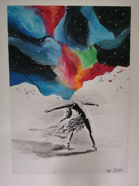 Malerei, Acrylmalerei, Farben, Seele, Tanz