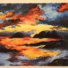 Farben, Acrylmalerei, Malerei, Berge