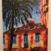 Haus, Acrylmalerei, Landschaft, Farben