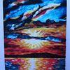 Malerei, Farben, Berge, Ölmalerei
