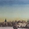 Fulda, Bauwerke, Abendstimmung, Schloss adolphseck