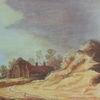 Dünen, Haus, Acrylmalerei, Goyen
