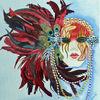 Maske, Aquarellmalerei, Karneval, Aquarell