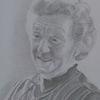 Ältere frau, Portrait, Grafit, Zeichnungen