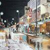 Regen, Nacht, Reflexion, Thailand