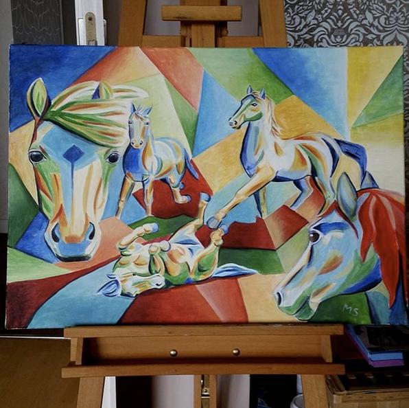 Modern, Malerei acrylmalerei, Expressionismus, Malerei