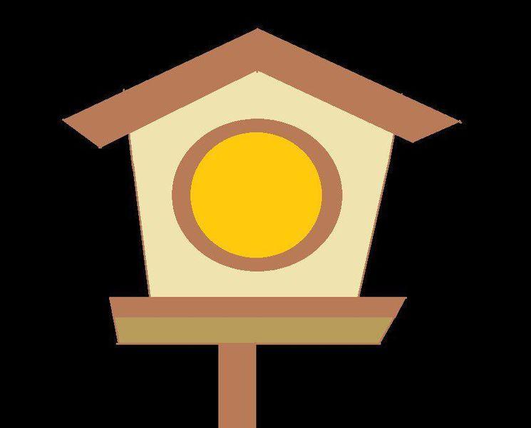 Haus, Vogel, Vöglein, Nest, Vogelhaus, Digitale kunst
