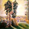 Sonne, Acrylmalerei, Landschaft, Baum