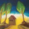 Haus, Weg, Einsamkeit, Leuchten