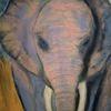 Elefant, Afrika, Malerei, Pastelle