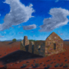 Outback, Ruine, Malerei,