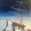 Eis, Schiff, Blau, Malerei