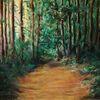 Licht, Weg, Wald, Malerei
