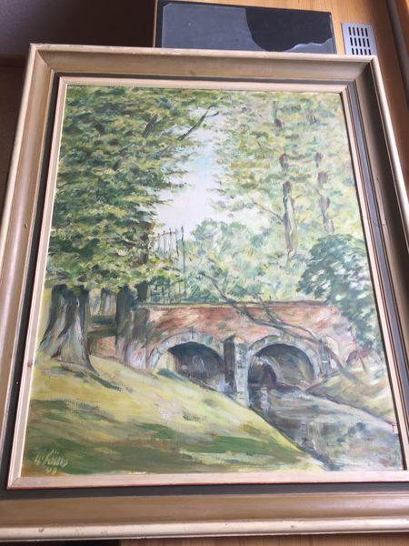 Pinnwand, Brücke, Landschaft