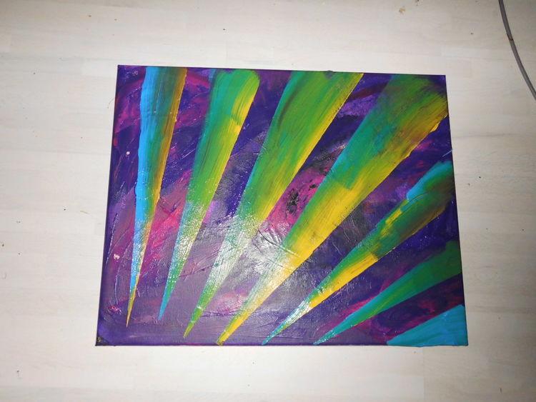 Abstrakt, Wandbild, Malerei, Dekoration, Streifen, Acrylmalerei