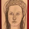 Frau, Portrait, Zeichnungen,