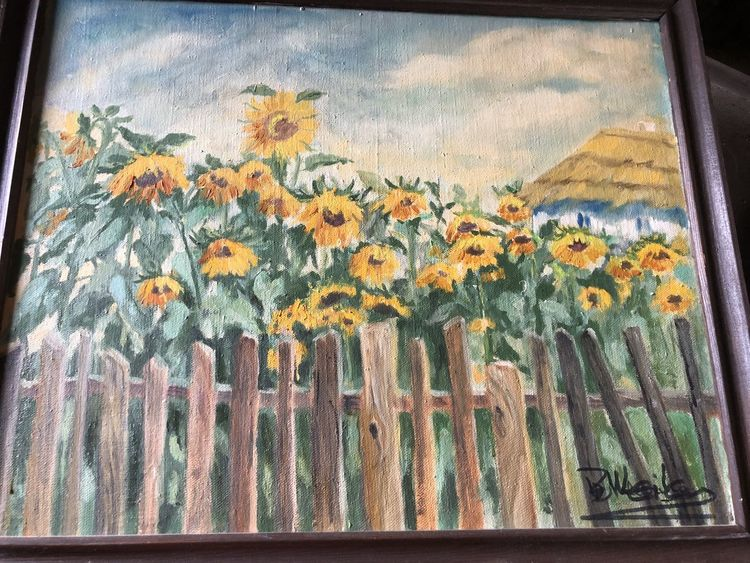 Pinnwand, Sonnenblumen