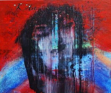 Malerei, Acrylmalerei, Abstrakte kunst, Gesicht, Acrylpainting, Menschen