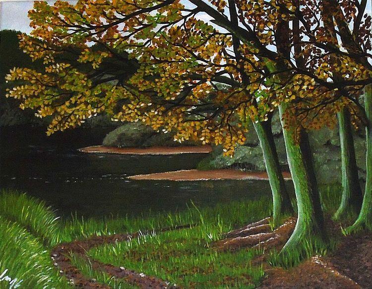 Braun, Herbst, Baum, Blau, Modern, Wald