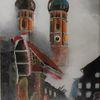 Feuerwehr, Acrylmalerei, Wandbild, Wunschbild