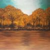 Herbst, Himmel, Büro, Acrylmalerei