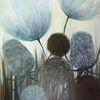 Wiesenblumen, Bilder für wohnzimmer, Schwarz, Esszimmer