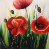 Wunschbild, Blumen, Acrylmalerei, Sommer