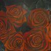Wunschbild, Blumen, Schwarz, Modern art