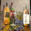 Wein, Acrylmalerei, Malen, Stillleben