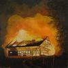Modern art, Acrylmalerei, Feuerwehr, Landschaft