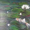 Wunschbild, Blumen, Grün, Wasser